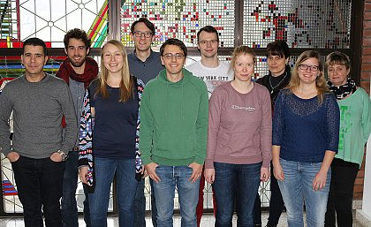 Niedermeyer group in January 2018 f.l.t.r. Adel Elmekes, Steffen Breinlinger, Ronja Kossack, Timo Niedermeyer, Tomasz Chilczuk, Dominik Wichner, Katrin Gilbert, Anja Wodak, Julia Moschny, Kathrin Kunth. missing on this picture: Nico Ortlieb